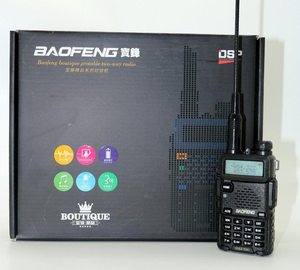 Baofeng DM-5R Portable Radio VHF UHF Double Bande DMR Numérique Anolog double mode 5 W 128CH Talkie Taklie lampe de Poche DM5R émetteur-récepteur