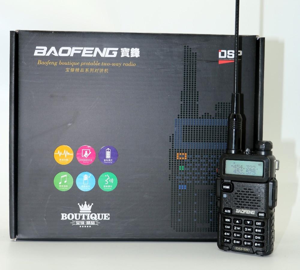 Baofeng DM-5R Tragbare Radio VHF UHF Dual Band DMR Digitale Anolog dual modus 5 Watt 128CH Walkie Taklie Taschenlampe DM5R Transceiver