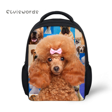 купить ELVISWORDS Kids Backpacks Kindergarten School Bag For Boys Girls Pug dog Schoolbag Student Book bags Children Mini Mochila по цене 911.19 рублей