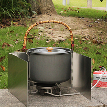 Picnic Stove Windshield Screen Camping-Cooking Folding Windproof