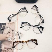 1PC Classic Retro Frames Glasses Clear Lens Nerd Designed Men Women Eyeglasses Vintage Half Metal Eyewear Frame Glasses цена