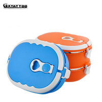 Portable Cute Mini Bento Box Leak Proof Stainless Steel Thermal Lunch Box Kids Picnic Food Storage