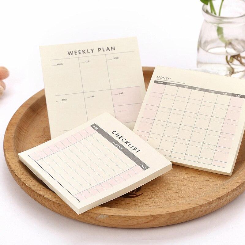 Cute Kawaii Weekly Monthly Work Planner Books