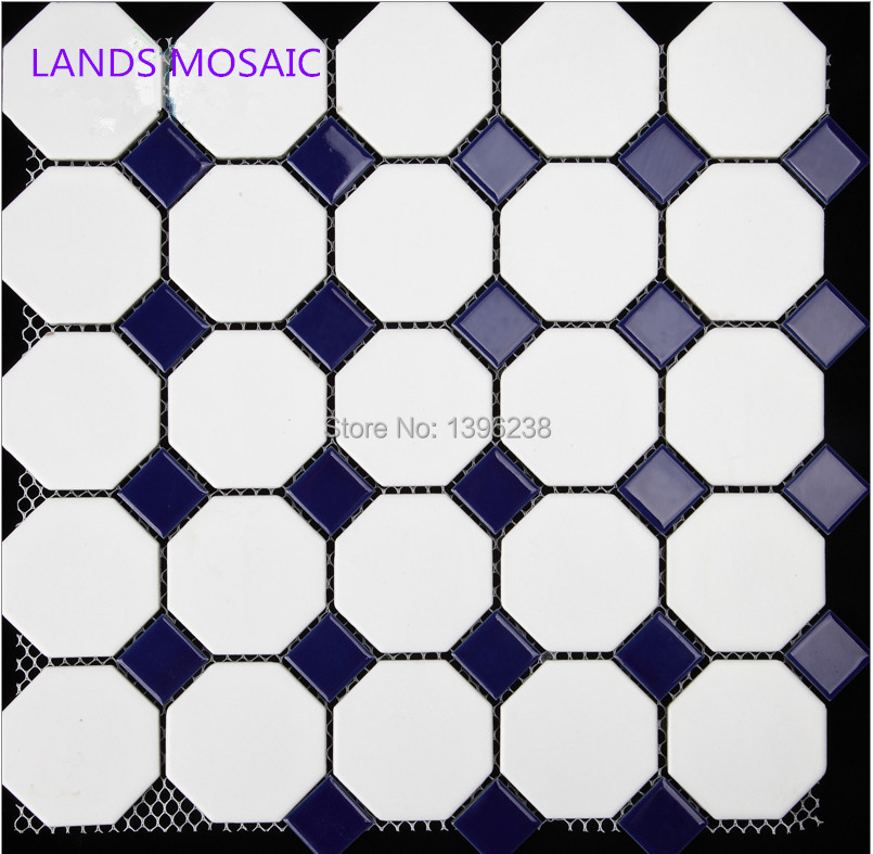 Navy Blue White Ceramic mosaic tile for Home,Bathroom wall/floor,Kitchen backsplash tiles,Toliet decor,FREE SHIPPING,LSTCBJ03 ocean blue pearl shell mosaic tile gray natural marble kitchen backsplash sea shell tiles subway glass conch wall tiles lsbk53