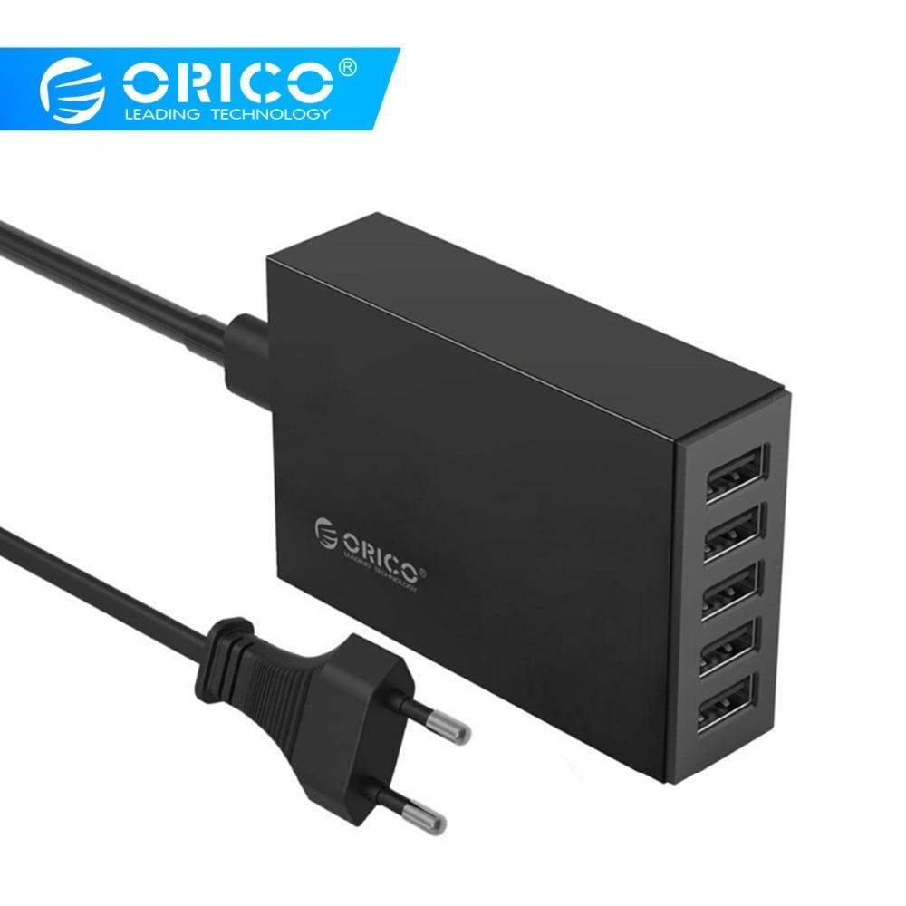 ORICO 5 port masa üstü şarj cihazı iPhone üçün mobil telefon şarj cihazı səyahət şarjı