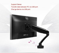 LOCTEK D5S Desktop Computer Monitor Holder Desktop LCD Monitor Mount D5S Support USB Charge and Music Playing
