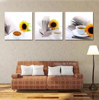 New Arrival New Arrival Modular Wall Drawing Prints Still Life Sunflower Pictures Modern Home Decor Oil