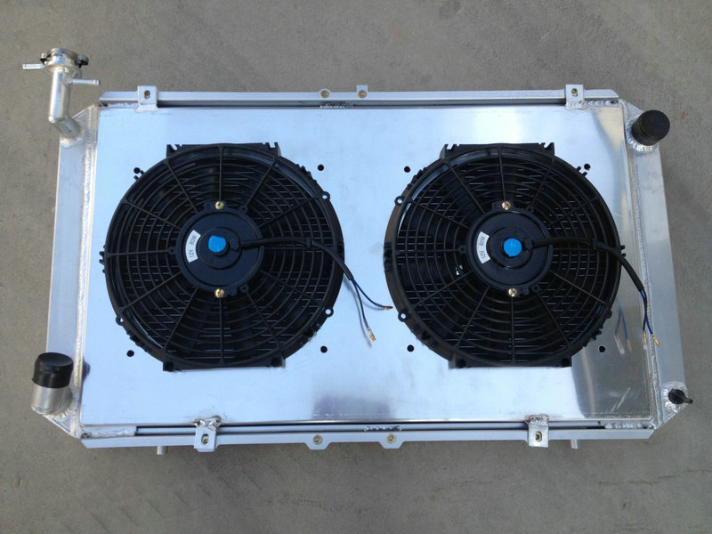 Precise 56mm 3 Rows Aluminum Radiator+shroud+2 Fans For Nissan Patrol Gq Safari 2.8l/4.2l 4200cc Diesel Td42 & 3.0l Petrol Y60 Yet Not Vulgar Oil Coolers Auto Replacement Parts