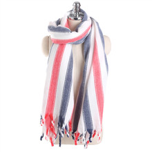 ФОТО 2017 autumn and winter new cashmere scarf for women hit color wide striped tassel luxury scarf outside warm fashion neck scarves