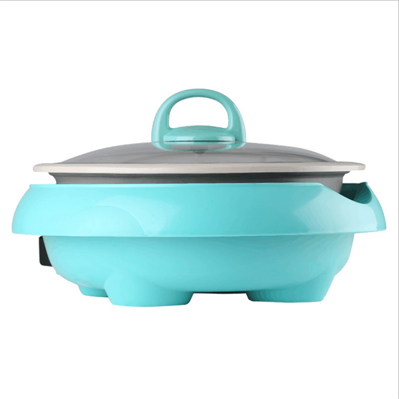 220V/1300W Multifunction 3L Electric Hot Pot Separable Household Ceramic Stew Pot Non-stick And Smokeless Suit For 3-5 People 220v 600w 1 2l portable multi cooker mini electric hot pot stainless steel inner electric cooker with steam lattice for students