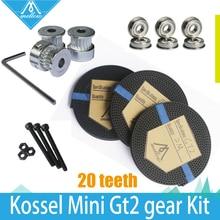 ¡ CALIENTE! rueda de 3X2 M Correa de Distribución GT2 20 Dientes Polea bore 5mm + F623ZZ Rodamiento y Rostock GT2 Gear kit para Delta Kossel Mini