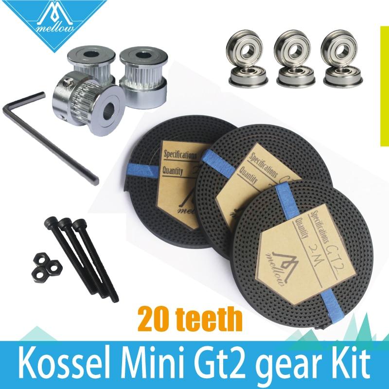 HOT! 3X2 Mt Zahnriemen GT2 20 zahnrad Zahnriemenscheibe bohrung 5mm + F623ZZ Lager & GT2 Getriebe kit für Delta Rostock Kossel Mini