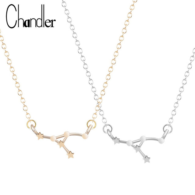Chandler Cancer Zodiac Sign Astrology Necklace Constellation Jewelry June July Birthday Gift For Women Star Invisible Link Chain
