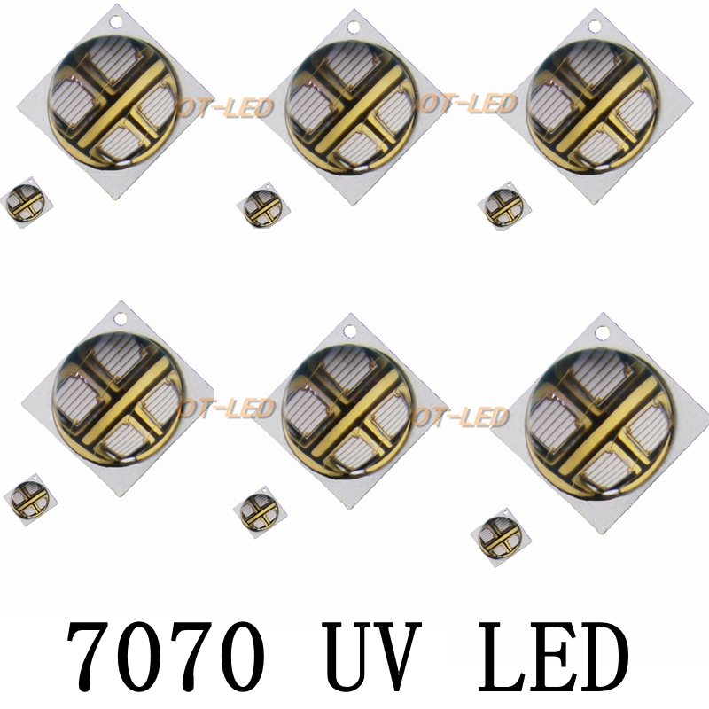 10PCS 10W 7070 UV 395nm/365nm LED curing lamp 2 Parallel 2 Series 6.3-6.5V 1500mA Led Emitter Light for curing/ink/3D Printer 10pcs 10w 7070 uv 395nm 365nm led curing lamp 2 parallel 2 series 6 3 6 5v 1500ma led emitter light for curing ink 3d printer