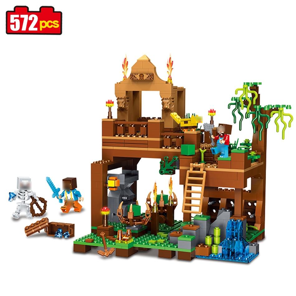 Qunlong 572pcs Minecraft Skeleton action figure Building Blocks compatible legoed Minecraft weapon model Brick Toys For Children жесткий диск 250gb samsung 850 evo mz 75e250bw
