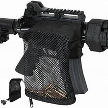 Avcılık taktik M4 askeri ordu çekim pirinç ar15 mermi tutucu tüfek Mesh tuzak kabuk tutucu etrafında fermuarlı çanta