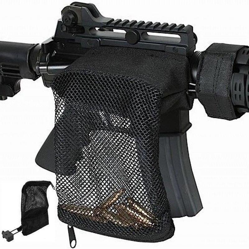 Hunting tactical M4 military army shooting Brass ar15 Bullet Catcher Rifle Mesh Trap Shell Catcher Wrap Around Zipper Bag-in Paintball Accessories from Sports & Entertainment
