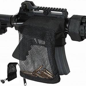 Image 1 - Polowanie taktyczne M4 wojskowe armii strzelanie mosiądz ar15 Bullet Catcher karabin Mesh pułapka Shell Catcher Wrap wokół torba na zamek błyskawiczny