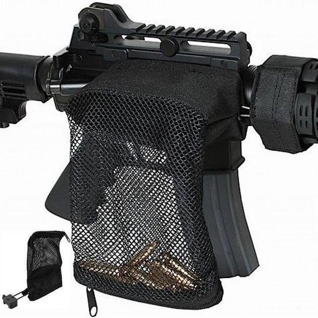 Polowanie taktyczne M4 wojskowe armii strzelanie mosiądz ar15 Bullet Catcher karabin Mesh pułapka Shell Catcher Wrap wokół torba na zamek błyskawiczny