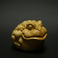 Wood Oriental China Traditional Feng Shui Money Lucky Fortune Animal Chinese Wealth Frog Toad Decor Great Gift Home