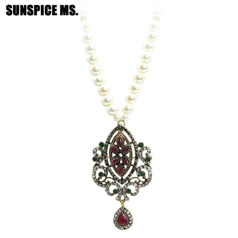 Этнические турецкие женские винтажные бусы античное ожерелье с подвеской золотого цвета камедь цветок Длинная нить ожерелье s индийские свадебные украшения
