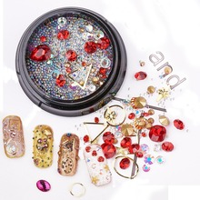 Pandahall 1 Box Mixed Designs Rhinestones For Nails 3D Crystal Stones Diy Tools Manicure Diamonds