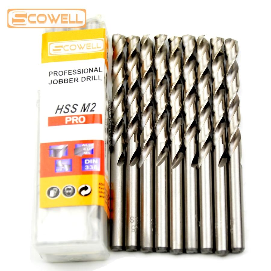 Acier Pièce 10 4,5 mm métrique HSS Jobber Drill Bit-pour Métal Bois-Aluminium