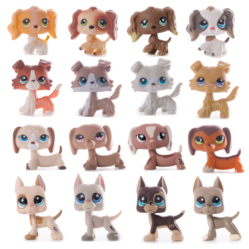 LPS Pet Shop Toys Dolls Cat Great Dane Collie Dachshund Cocker Spaniel Collection Action Figures Model Toys Gifts Cosplay Toys