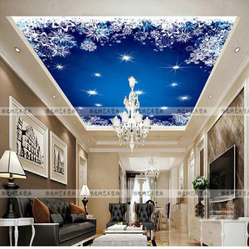 Custom European style living room bedroom ceiling mural children room night dream 3d wallpaper environmental personality