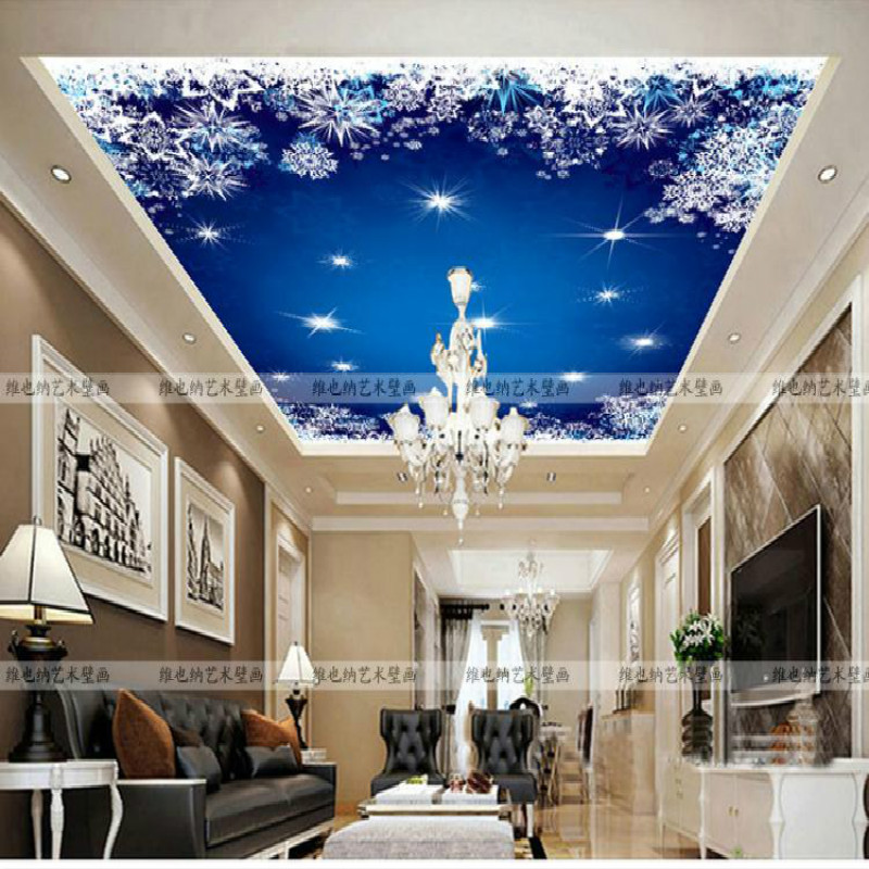 Custom European style living room bedroom ceiling mural children room night dream 3d wallpaper environmental personality custom baby wallpaper snow white and the seven dwarfs bedroom for the children s room mural backdrop stereoscopic 3d