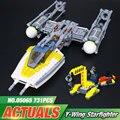 Nova 691 Pcs Lepin 05065 Genuine Star Series Guerra O Y-asa Starfighter Definir Blocos de Construção Tijolos Brinquedos Educativos presente 75172