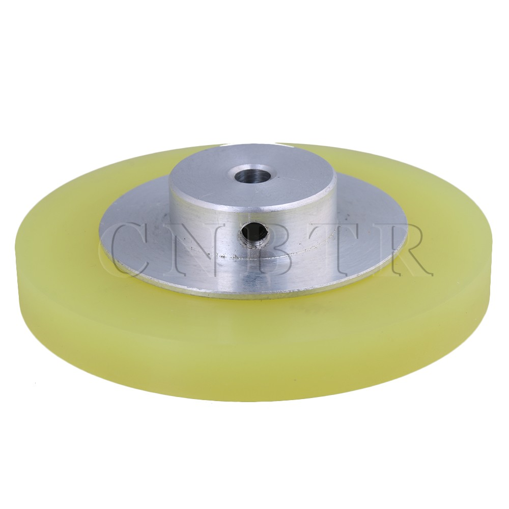 CNBTR 250x6mm Yellow Silver Industrial Aluminum Silicone Rotary Encoder Measuring Wheel for Measuring Conveying Speed & Position original taiwan honest sensor measuring wheel encoder