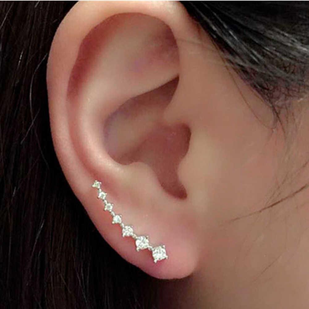 คู่ใหม่Desginแฟชั่นเขี้ยวชุดเจ็ดอัญมณีหินหูข้อมือต่างหูที่มีเสน่ห์กระดุมหูสำหรับผู้หญิง