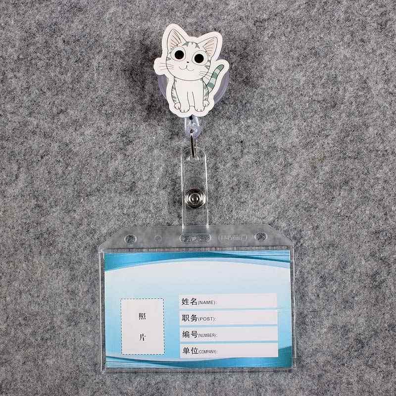 رمادي القط النساء و الرجال شارة التمرير ممرضة بكرة PVC الطابع قابلة ألوان المدرسة الفتيات المعرض ID البلاستيك طبيب حامل بطاقة