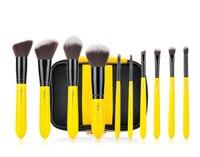 MSQ 10pcs Pro Makeup Brush Set Face Basic Blending Eyeshadow Lip Foundation MakeUp Brush Kit Soft