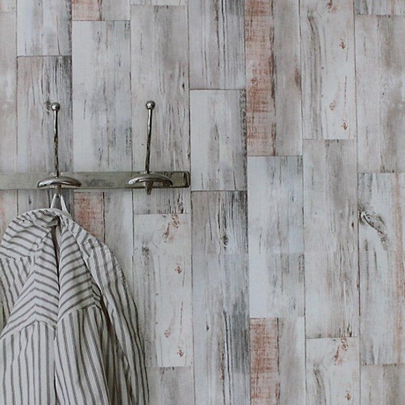 Ретро текстура древесины личность обои Костюмы магазине исследование кафе Задний план стены Современные виниловые обои Papel де Parede 3D