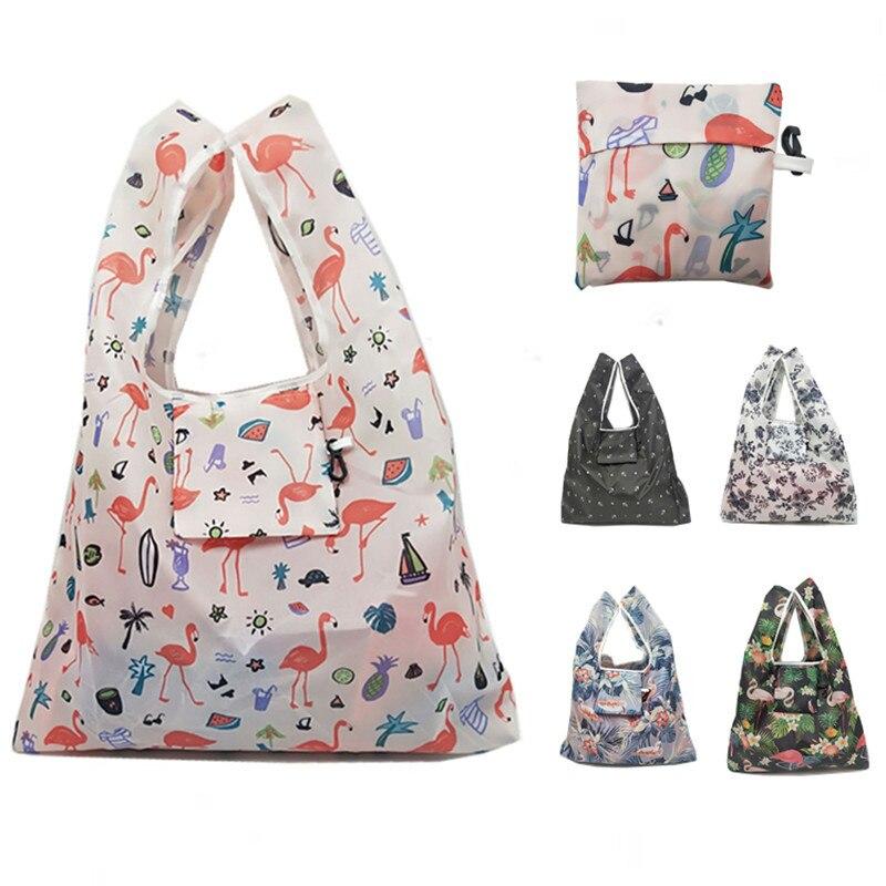 Cartoon Waterproof Folding Tote Bag Lightweight Shopping Bag Fashion Large Tear-Resistant Reusable Shopping Bag