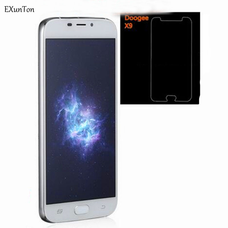 EXUNTON 2PCS 2.5D Tempered Glass For Doogee X9 Pro X10 X9Pro 9H Clear Premium Screen Protector Anti-Explosion Protective Glass