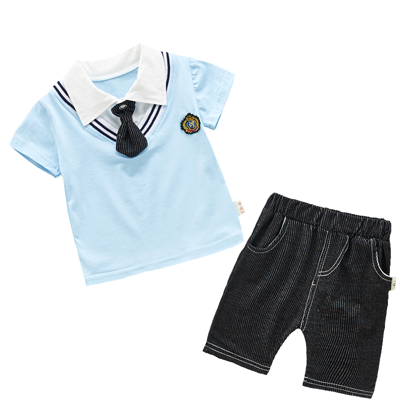 221708dbf150 1 4 Years Old Baby Boy Summer Clothes Set Cotton Print Shirt and ...