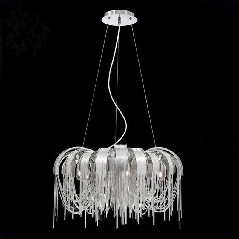 Yeni Tasarım İtalya Alüminyum Zincir Püskül Kolye Işıkları - İç Mekan Aydınlatma - Fotoğraf 6