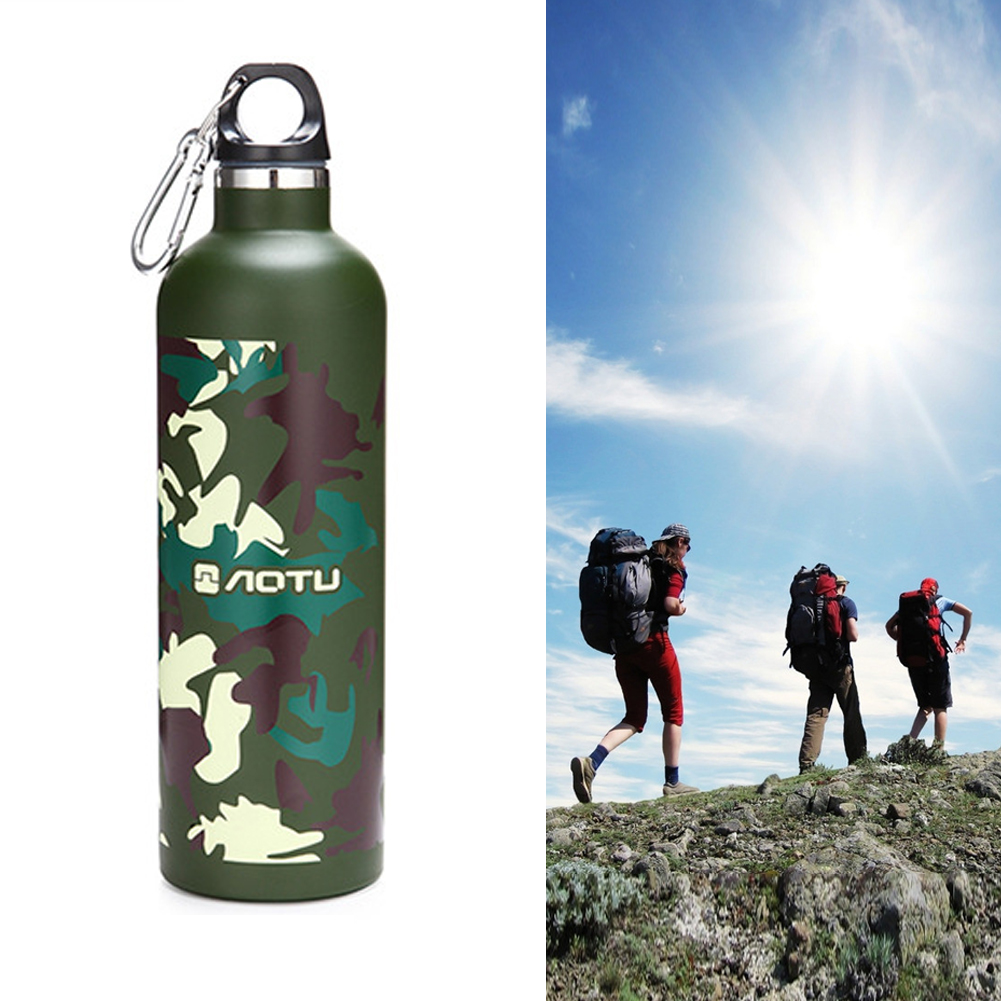 600ML Outdoor Sport Water Bottle Camouflage Purity Aluminium Outdoor Camping Hiking Cycling Travel Drink Bottle Portable Canteen