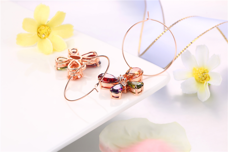 g PISSENLIT Clover Shape Drop Earrings Colorful Rhinestone Earrings Women Jewelry 2019 New Fashion Grace Summer Jewelry For Beach