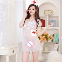 Sexy Nurse Costume Cosplay Dress Adult Cosplay Fancy Babydoll Underwear for Ladies sexy lingerie nurse uniform night pajamas