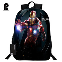 16 Inch The Avengers Iron Man School Bags For Kindergarten Children Kids School Backpack For Girls