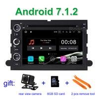 2 GB RAM Android 7.1.2 için Araba DVD Oynatıcı Ford F150 F350 F450 F550 F250 Fusion Expedition Mustang Explorer Kenar ile BT Wifi