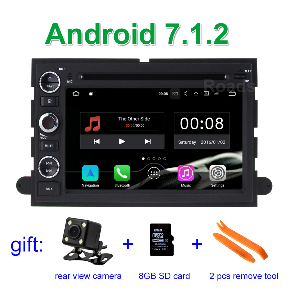 2GB RAM Android 7.1.2 Car DVD Player for Ford F150 F350 F450 F550 F250 Fusion Expedition Mustang Explorer Edge with BT Wifi