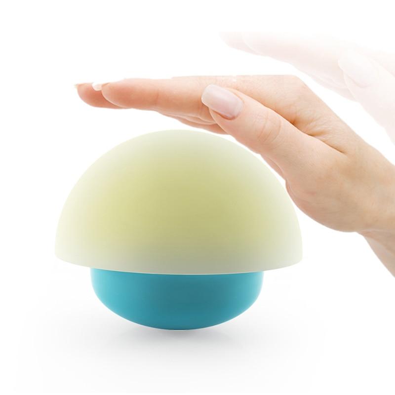 Touch Sensor Night Light Soft Cartoon Baby Nursery USB Lamp Children Mushroom LED Night Light Color Changing Roly-poly Style