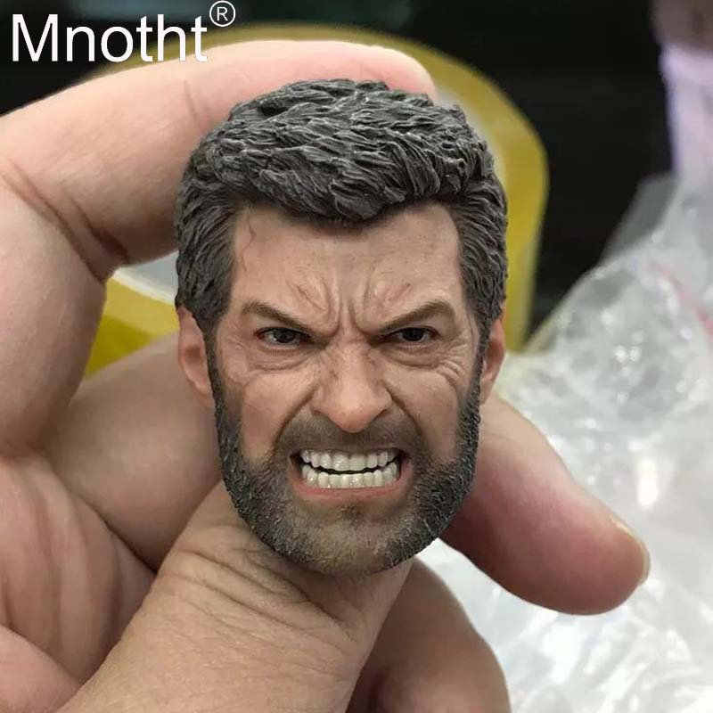 Wolverine Logan Model 1:6 Scale Male Soldier Head Sculpt For 12inch Action Toy Figure Collection Wrath Wolf Carving Mnotht