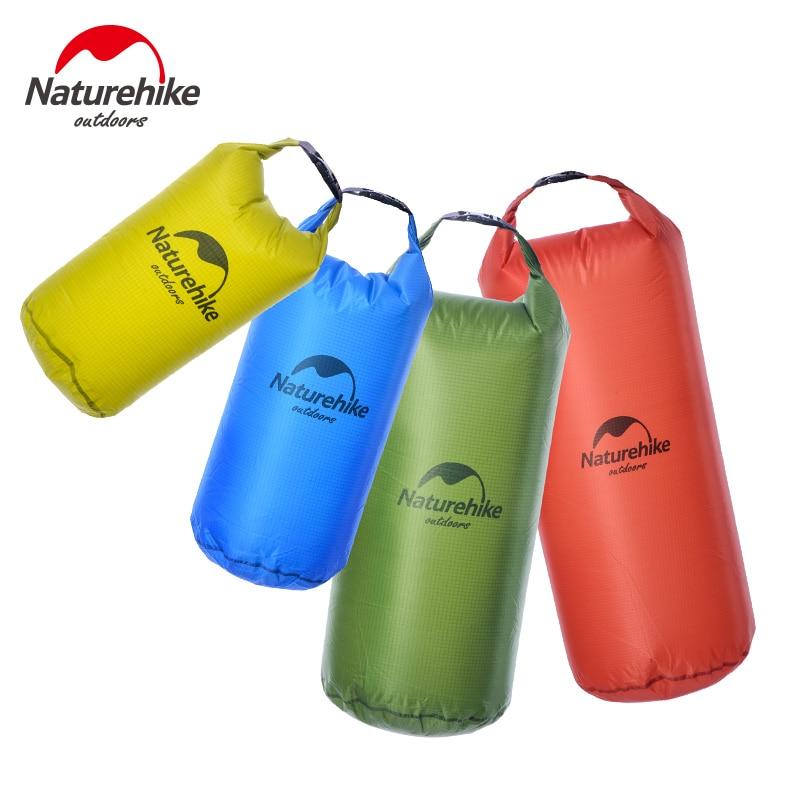 Naturehike 5L 10L 20L 30L 20D Nylon bolsa impermeable ligera al aire libre a la deriva buceo natación Camping Backpacking saco seco