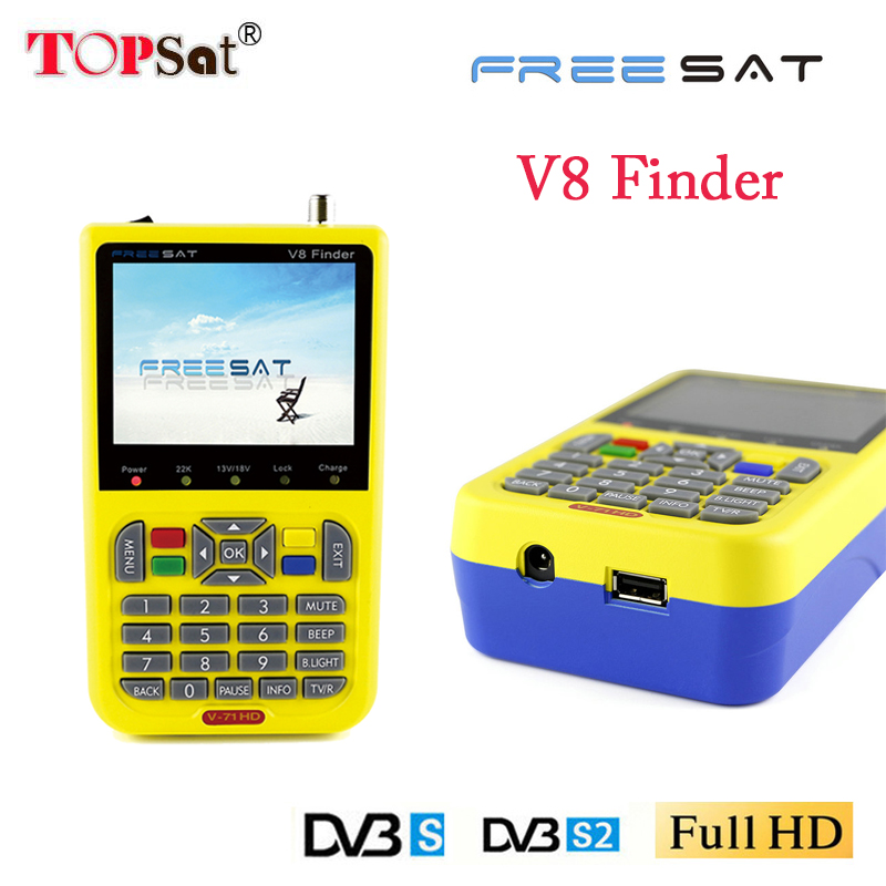 Freesat V8 Finder TV Signal Finder Meter DVB S/S2 HD Digital Meter 3.5 Inch LCD Dispaly 3000mAh Battery pk 6916 6906